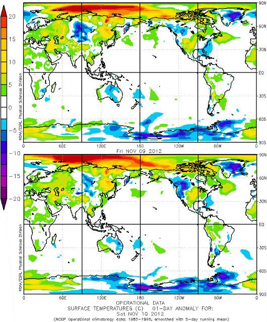 Arctic Temperatures Anomolies
