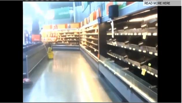 Walmart shelves stripped bare